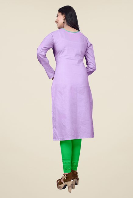 Occeanus Purple Embroidered Kurta