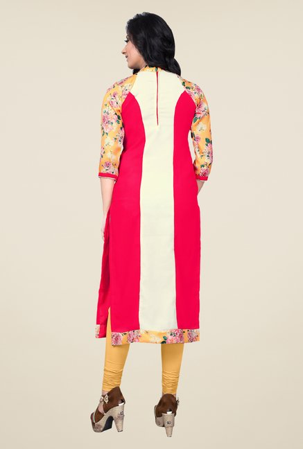 Occeanus Multicolor Embroidered Kurta