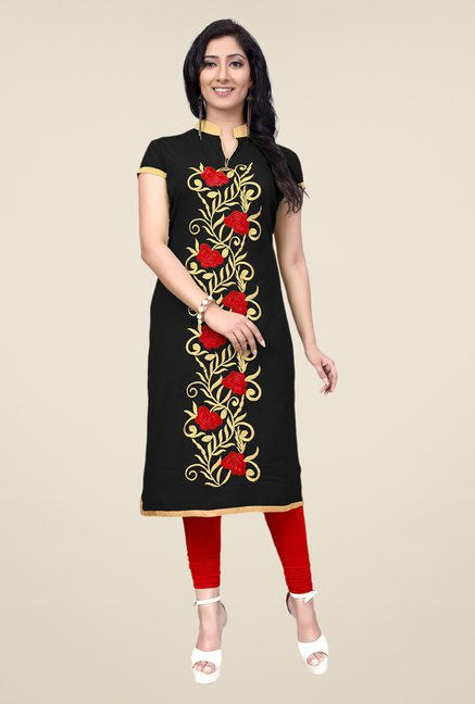 Occeanus Black Embroidered Kurta