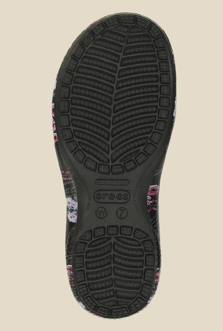 Crocs Freesail Graphic Black & Plum Clogs