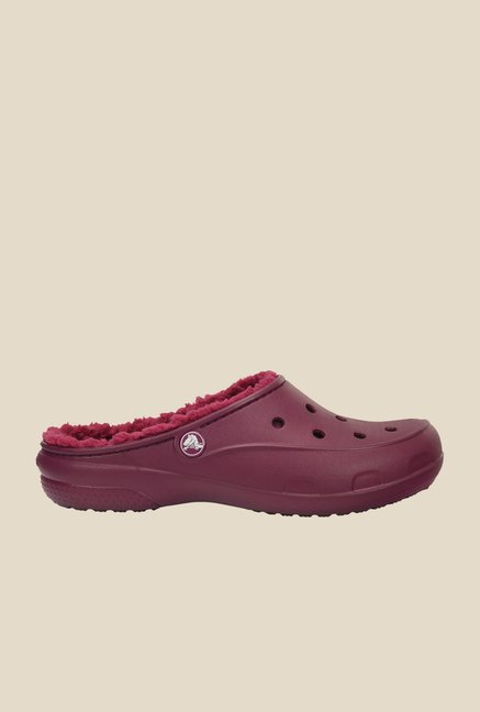 Crocs Freesail PlushLined Plum Clogs
