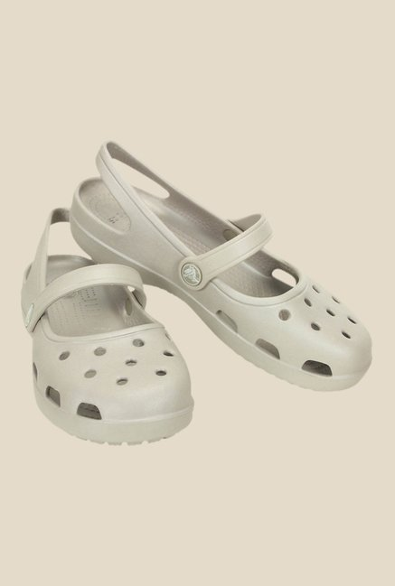 Crocs Shayna Platinum Grey Clogs