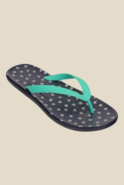 Crocs Chawaii Island Green & Nautical Navy Flip Flops