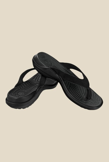 f8828ef2933cf Buy Crocs Capri IV Black Flip Flops For Women Online At Tata CLiQ