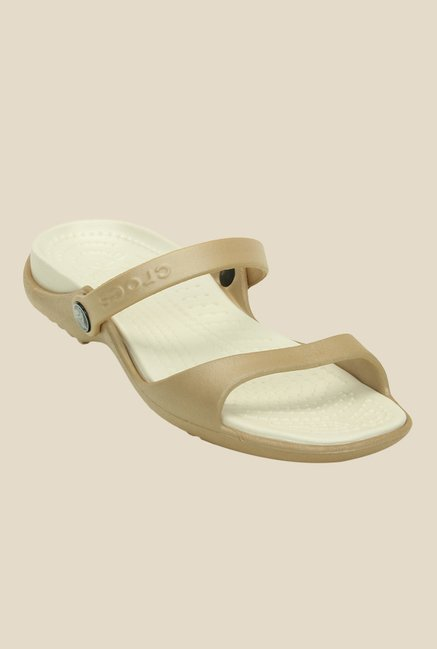 Crocs Cleo Golden & Oyster Casual Sandals