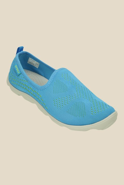 Crocs Duet Busy Day Xpress Skimmer Bold Blue Slip-Ons