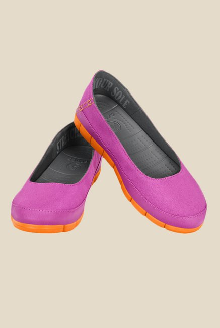 Crocs Stretch Sole Vibrant Violet & Orange Flat Ballets