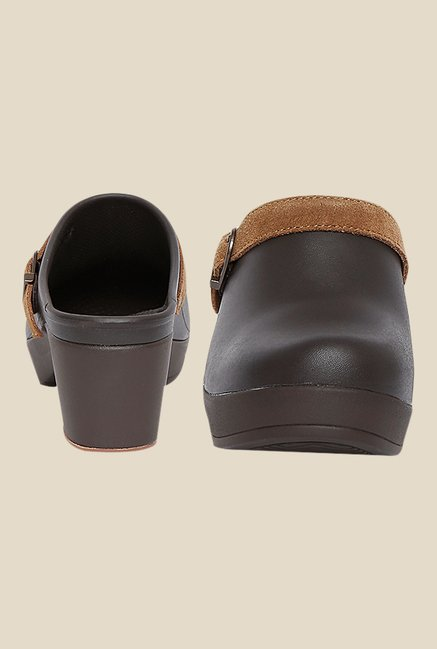 4fd39a12108b Buy Crocs Sarah Espresso Mule Sandals For Women Online At Tata CLiQ