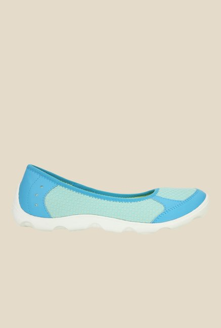 Crocs Duet Busy Day Electric Blue & White Flat Ballets