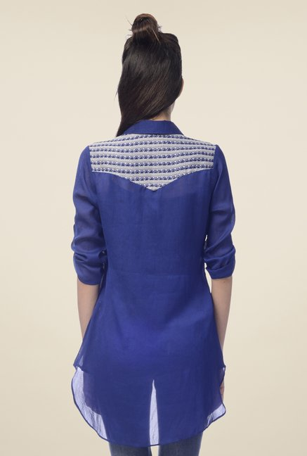 Desi Belle Blue Printed Shirt