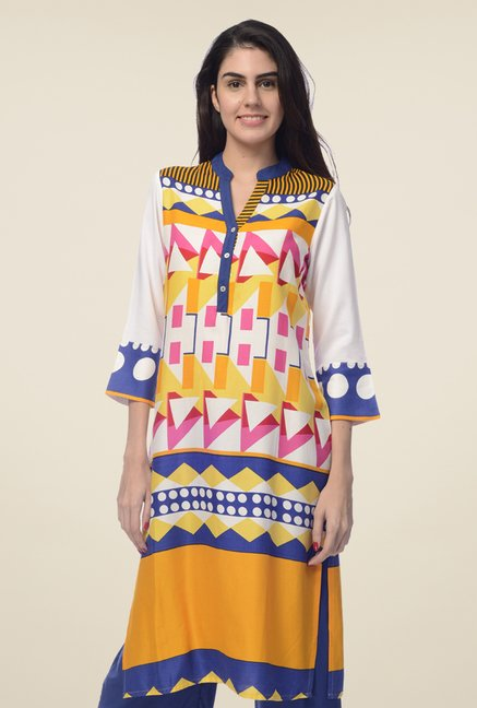 Desi Belle Multicolor Printed Kurta