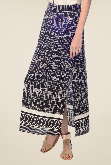 Desi Belle Black Printed Skirt