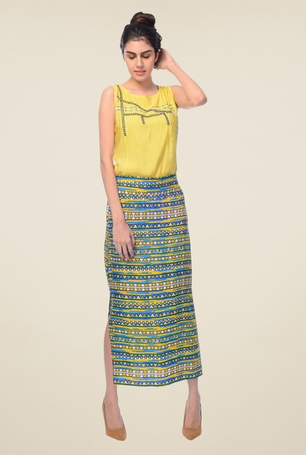 Desi Belle Multicolor Printed Skirt