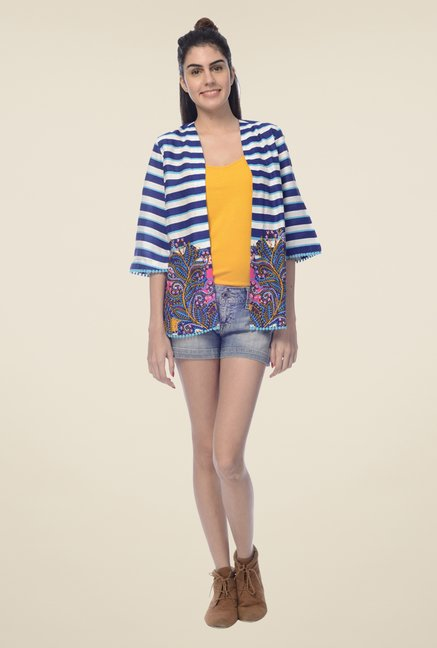 Desi Belle Navy Striped Shrug