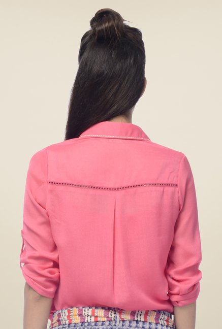 Desi Belle Pink Solid Shirt