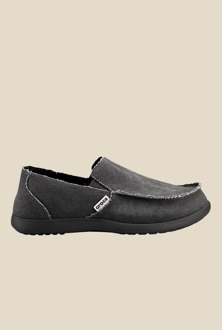 Crocs Santa Cruz Black Loafers