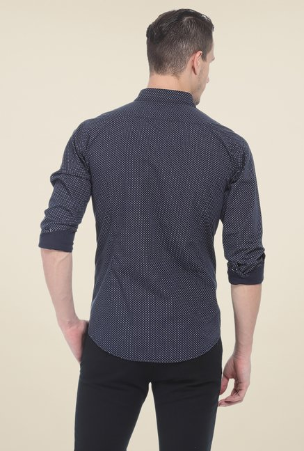 Basics Navy Full Sleeve Shirt