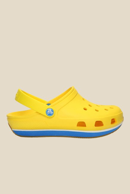 Crocs Retro Yellow & Ocean Clogs