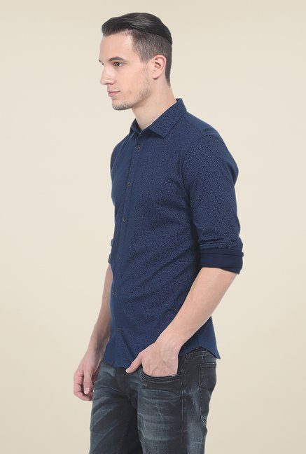 Basics Dark Blue Denim Shirt
