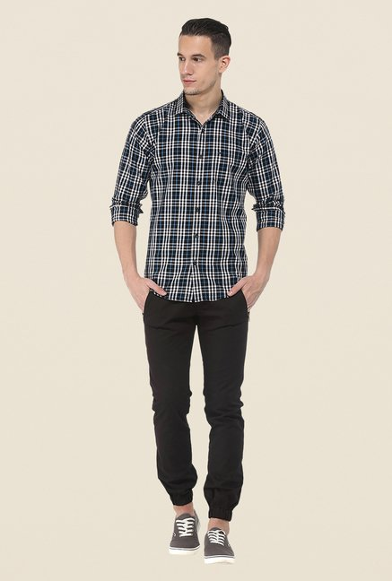 Basics Black Checks Shirt