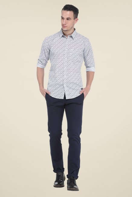 Basics Brown Print Shirt