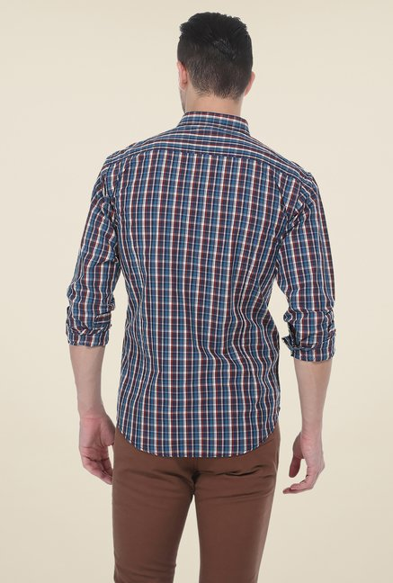 Basics Blue Full Sleeve Shirt