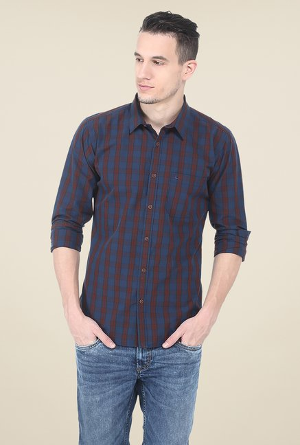 Basics Blue Cotton Shirt