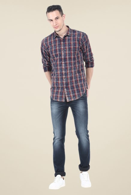 Basics Red Checks Full Sleeve Shirt