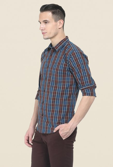 Basics Brown Full Sleeve Shirt