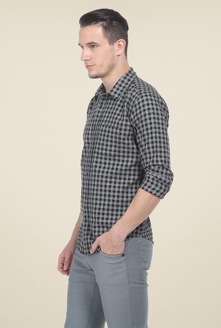 Basics Black Checks Full Sleeve Shirt