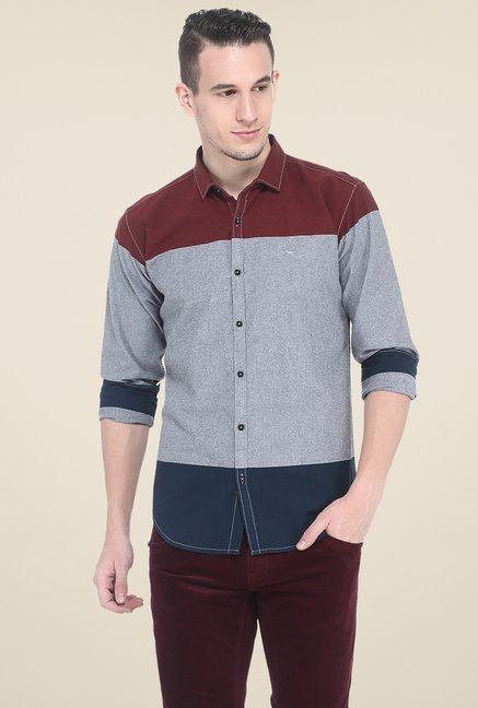 Basics Multicolor Solid Slim Fit Shirt