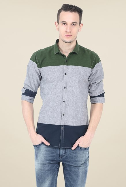 Basics Multicolor Solid Full Sleeve Shirt