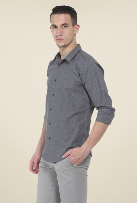 Basics Grey Checks Shirt