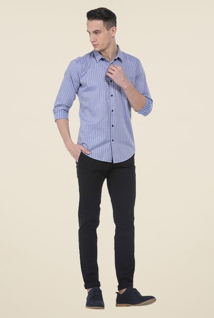 Basics Blue Striped Shirt