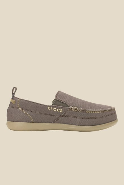 Crocs Walu Lounger Chocolate & Khaki Slip-Ons