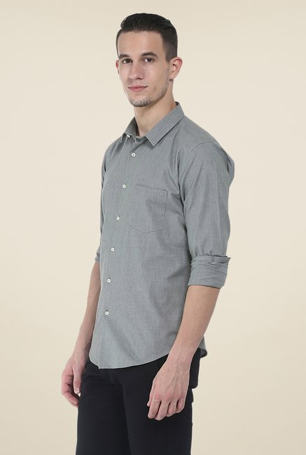 Basics Olive Textured Shirt