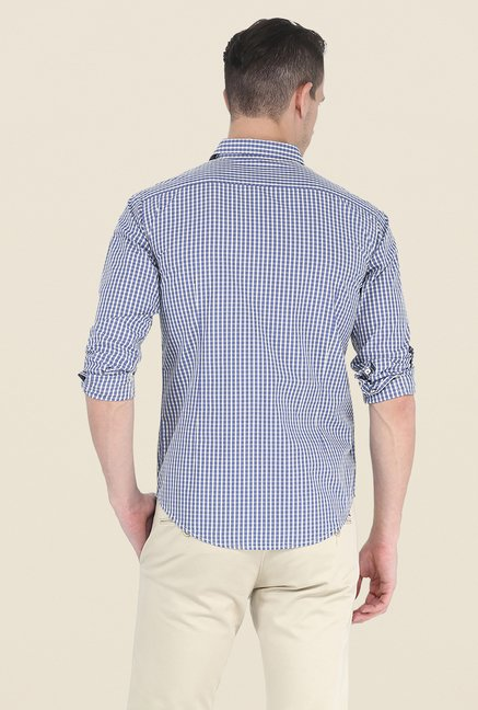 Basics Purple Checks Full Sleeve Shirt