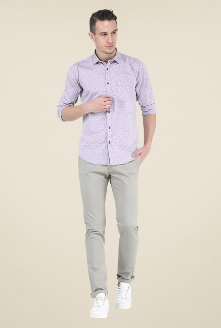 Basics Purple Printed Shirt