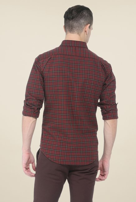 Basics Red Full Sleeve Shirt