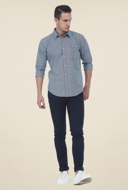 Basics Blue Slim Fit Shirt