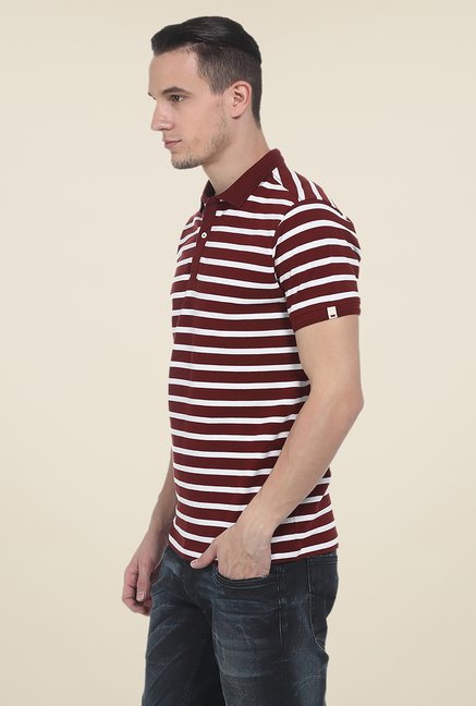 Basics Maroon Polo T Shirt