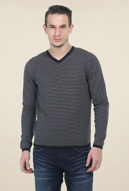 Basics Navy Striped T Shirt
