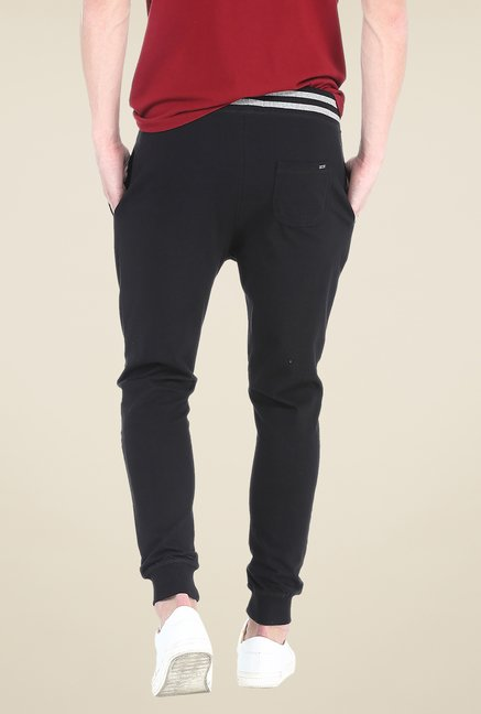 Basics Black Solid Joggers