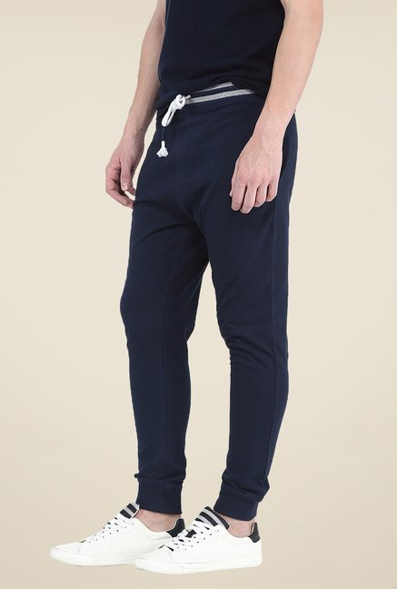 Basics Navy Solid Joggers