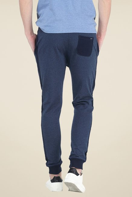 Basics Navy Textured Joggers