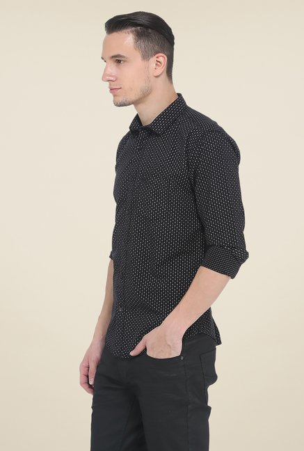 Basics Black Printed Full Sleeve Shirt
