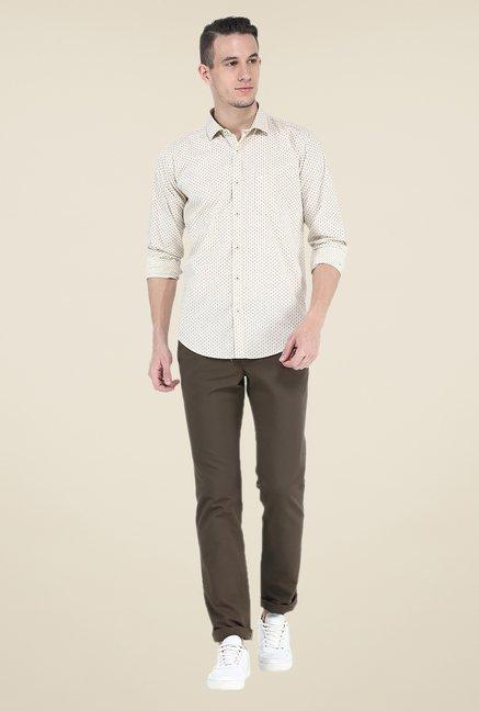 Basics Beige Printed Shirt