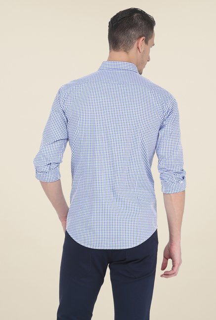 Basics Blue Full Sleeve Slim Fit Shirt