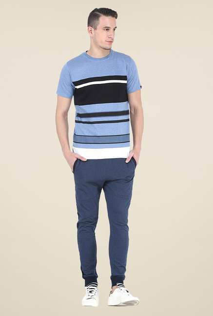 Basics Blue Striped Crew T Shirt