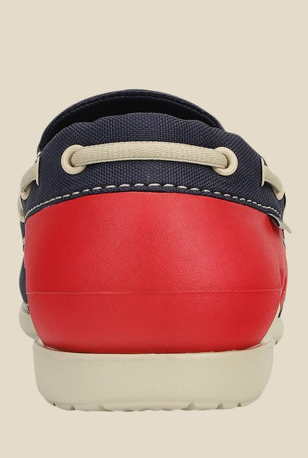 Crocs Beach Line Navy & Red Boat Shoes